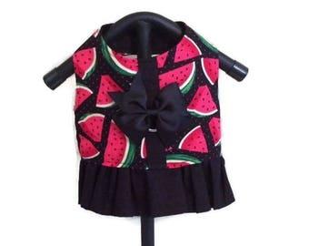 Watermelon Dog Harness, Black Dog Dress, Dog Harness Vest, Small Dog Vest, Dog Clothes, Harness Vest, Girl Dog Clothes, Girl Dog Harness