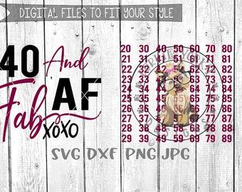 Fab AF xoxo Bundle - svg, dxf, png, jpg - love, birthday,  milestone, xoxo, Cricut, Studio Cutable file