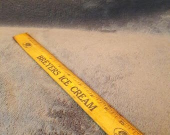 Vintage Schoolhouse Breyers Ice Cream Antique Ruler