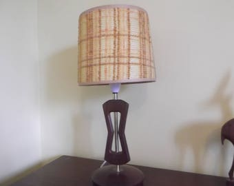 Teak table lamp with original shade 1960's design