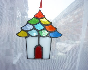 Stained glass house suncatcher