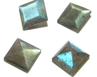 15-P Wholesale Lot Of  Blue Flashy Labradorite square Cut faceted Loose Gemstone with free shipping