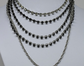 Sparkling Silver tone Necklace