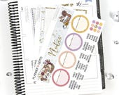 Eat Slay Love NEW Monthly Notes Page Planner Kit | 100+ Stickers | Planner Stickers | For Erin Condren LifePlanner