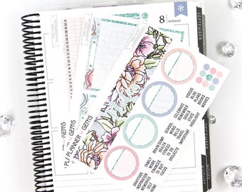 Rain Monthly Notes Page Planner Kit | ~100 Stickers | Planner Stickers | For Erin Condren LifePlanner