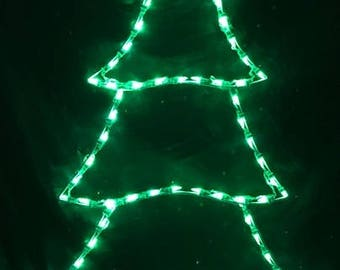 Simple Evergreen Christmas Tree Wireframe Outdoor Holiday Yard Decoration Commercial Quality