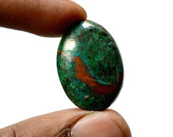 Chrysocolla 22.5 Cts AAA Quality Natural Gemstone Attractive Designer Oval Shape Cabochon 26x18x5 MM R14397
