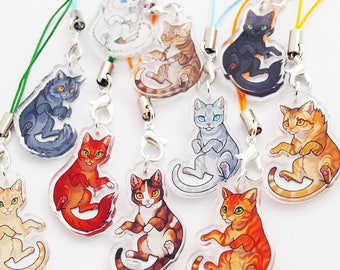 Warrior Cats! acrylic mini charms