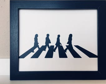 Vinyl Wall Art 8x10 Beatles Abbey Road