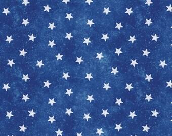 Jim Shore Patriotic Stars Fabric - Blue - Patriotic by the 1/2 Yard