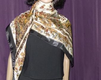"""Elegant huge  polyester  scarf     44"""" x 44"""" -   multi-color"""