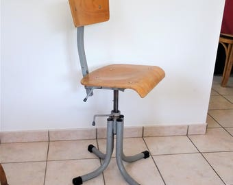 Swivel chair industrial 1900's used in a remarkable textile factory usability and strength/illuminati10