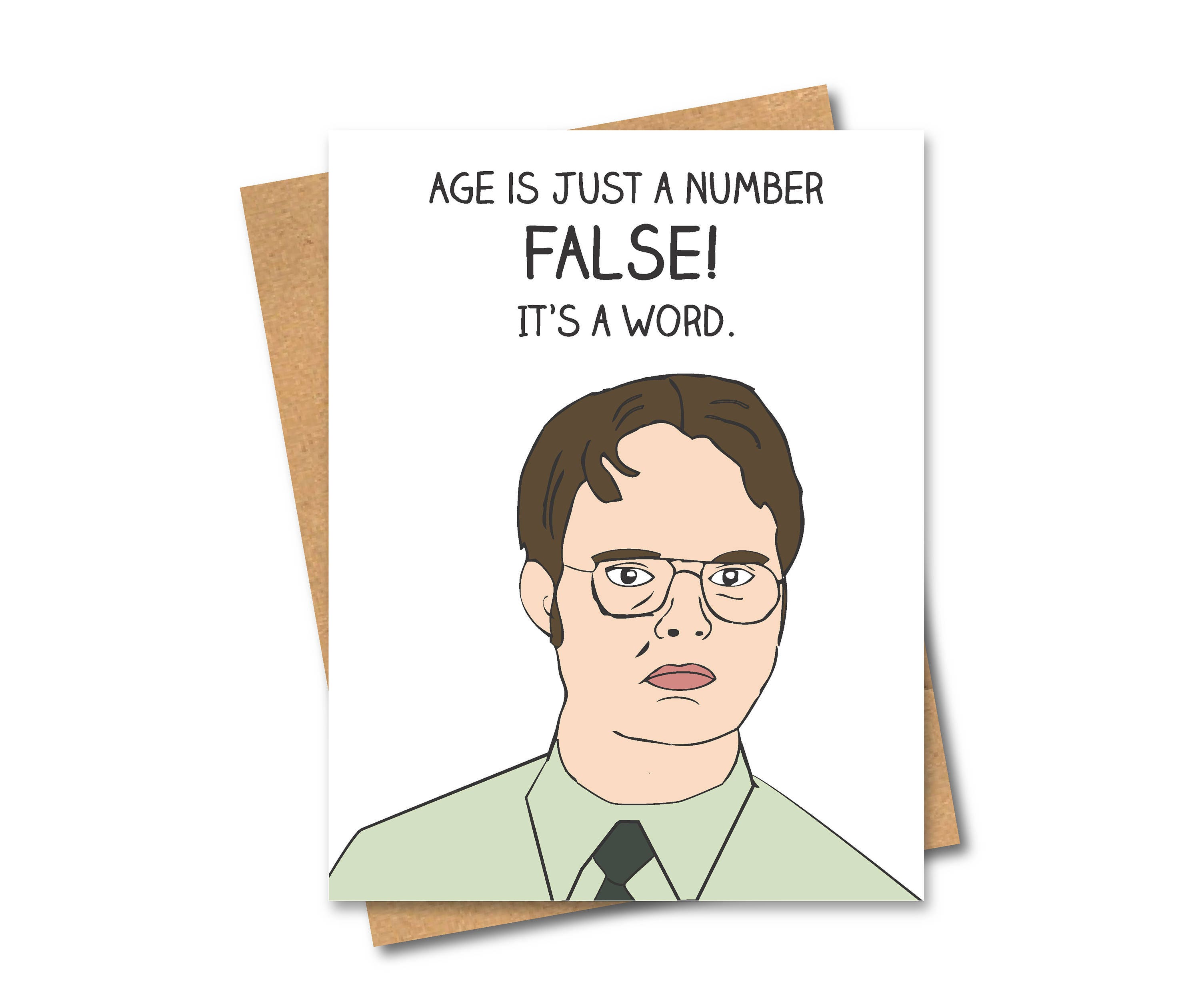 Dwight Schrute The Office Inspired Card Birthday