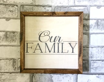 Our Family Wood Sign/ Wood Sign, Wooden Sign, Gallery wall, Family Wall, Rustic,