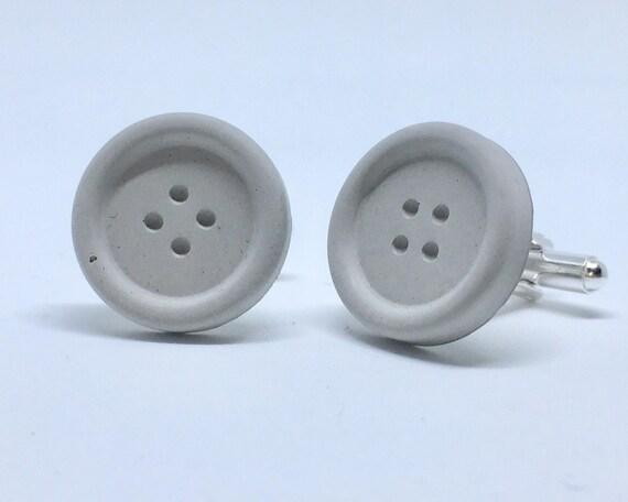 Concrete Button Cufflinks// Concrete Cufflinks // Industrialist Cufflinks // Brutalist Cufflinks