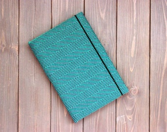 Handmade diary Wrap scrap book Didymos Lisca Smeraldo a5 notebook Green lined journal Babywearing gift Baby book Colorful diary Memory book