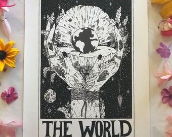 "Tarot Card Print • ""The World"""
