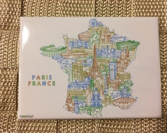 Paris France Souvenir Magnet