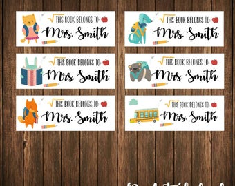 School Themed Labels, Book Labels