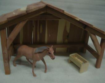 Nativity beams Stable/Shed/Barn/Manger Cedar Wood Kindergarten/DayCare/Christmas