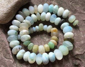 Peruvian Opal  beads, rondelles, variety, sampler, mixed lot, semi precious, jewelry supply