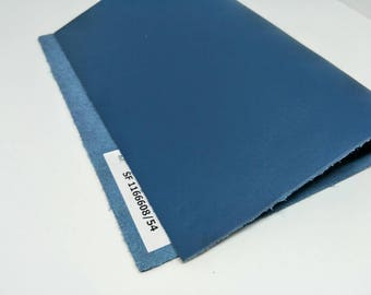 """Leather Scrap, Genuine Leather, Leather Pieces, Blue, Size 8.25"""" by 11.5""""  Leather Scrap for DIY Projects."""