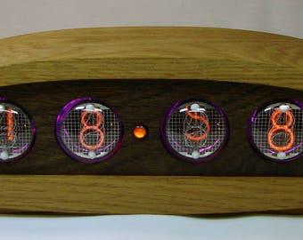 Wooden Nixie tube clock