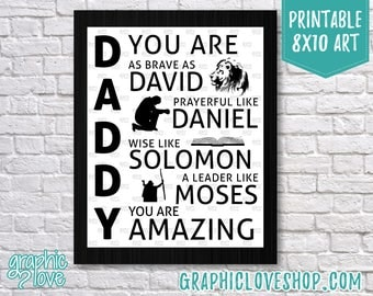"Printable Christian ""Daddy You Are""