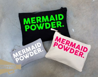Mermaid Powder Make Up Bag Pouch Make Up Case