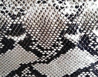 Snake printed calf skin strip