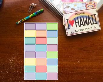 Colorful Half Box Planner Stickers
