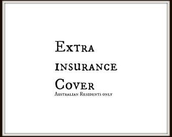 Extra Insurance Cover - AUSTRALIAN RESIDENTS ONLY