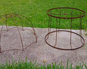 Two (2) Vintage Wire Lamp Frames