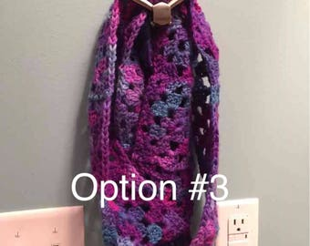 Crocheted Infinity Scarves (please choose option)
