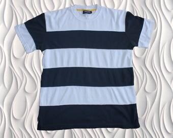 80's REGETTA - Large - Striped Shirt