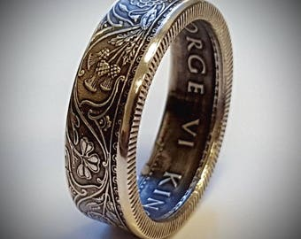 India Half Rupee Coin Ring