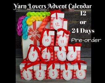 Advent Calendar For the Yarn lover, mini skeins, hand dyed yarn
