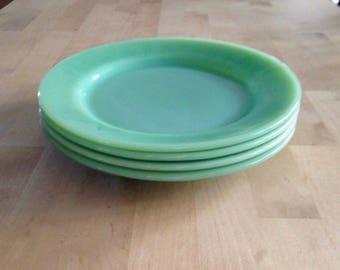 Fire King Jadeite dinner plates (set of four)