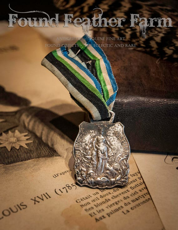 Antique French Medal of Honor with Ribbon