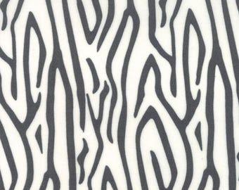 "Moda Fabric ""Savannah"" by Gingiber - One Yard Cut -black, white, Animal skin fabric, zebra print fabric, black and white print, animal print"