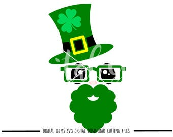 St Patrick's Day leprechaun svg / dxf / eps / png files. Download. Compatible with Cricut and Silhouette machines. Small commercial use ok