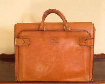 Spring Sale Rolla 1975 Collection Leathergoods Briefcase Tote Carryall in Buttery Tan Leather - VGC