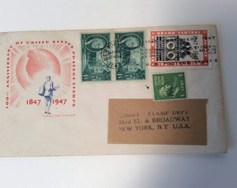 United States Postage Stamps 100th Ann. 1847 - 1947 first day cover