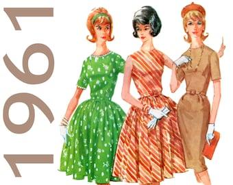 """Wiggle Dress Pattern Full Skirt Dress 1960s Dress Pattern McCALLS 6146 bust 33"""" Sheath Dress Pattern Fit and Flare Dress Bouffant Dress"""