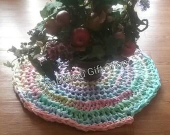 Hand made crochet rag rug,  rug, area rug, crochet,  crochet rug,  crochet rag rug, multi color rug, pet rug,  hand made rug, rug, upcycled