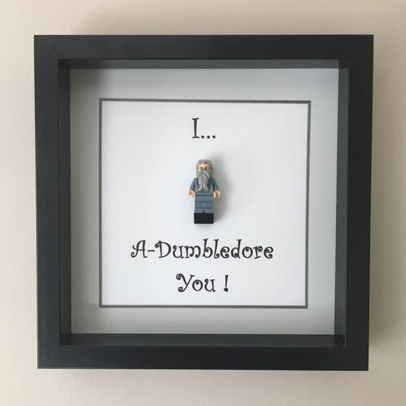 I A Dumbledore You Minifigure Frame, Mum, Gift, Geek, Box, Birthday, Mum, Anniversary, For Him, Lego, Comic, For Her, Superhero