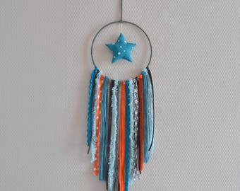 Dream catcher blue, orange and gray