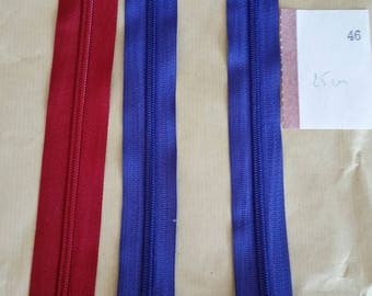zipper 25 cm assorted colors