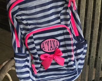 Monogrammed Backpack | Mesh Backpack | Back to School | Girls Backpack | Boys Backpack | Book Bag | Kids Backpack | School Bag | Backpack