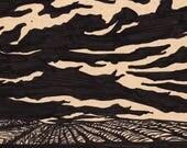 "Iowa Thunderstorm - 8.5x4.5"" - Original Illustration"